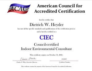 CIEC certificate