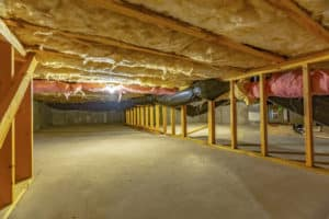 Basement or crawl space